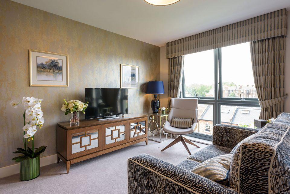 Eden Court retirement apartments lounge